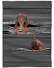"Dachshund Inside Blanket Large Fleece Blanket - 60"" x 80"" front"