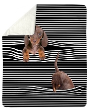"Dachshund Inside Blanket Sherpa Fleece Blanket - 50"" x 60"" thumbnail"