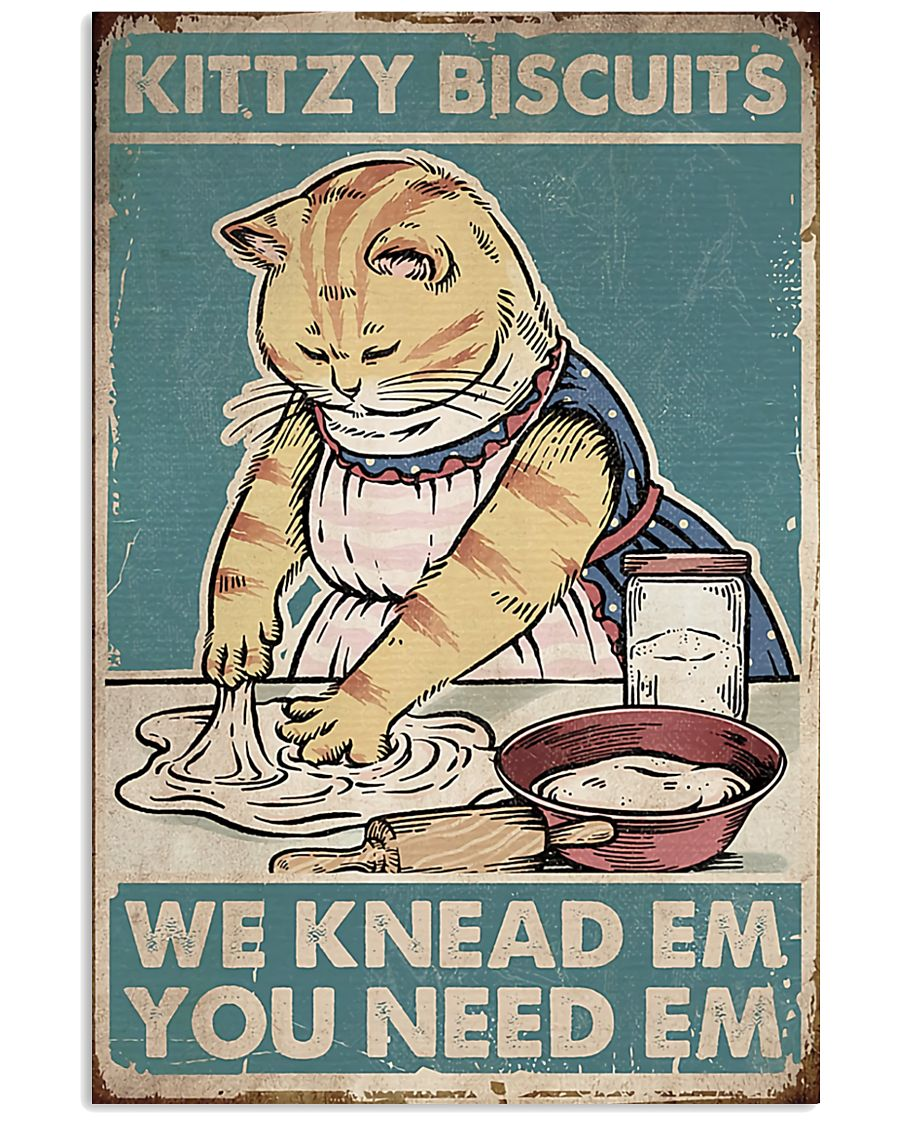 Cat Kittzy Biscuit 16x24 Poster