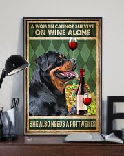 Rottweiler A Woman Cannot Survive On Wine Alone 11x17 Poster lifestyle-poster-2