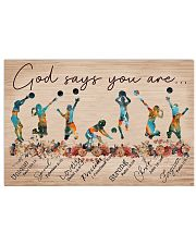 Volleyball God Says You Are 17x11 Poster front