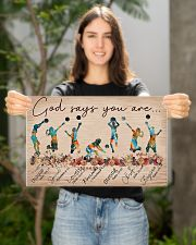 Volleyball God Says You Are 17x11 Poster poster-landscape-17x11-lifestyle-19