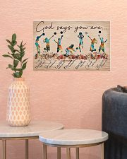 Volleyball God Says You Are 17x11 Poster poster-landscape-17x11-lifestyle-21
