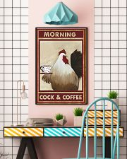 Chicken Morning Cock And Coffee Poster 11x17 Poster lifestyle-poster-6