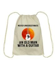 Guitar Nerver Underestimate Drawstring Bag tile