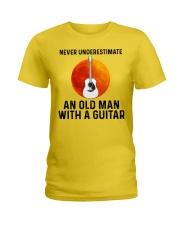 Guitar Nerver Underestimate Ladies T-Shirt tile