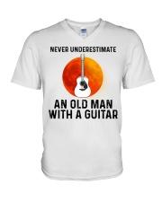Guitar Nerver Underestimate V-Neck T-Shirt tile