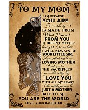 Black Girl To My Mom Because You Are The World 11x17 Poster front