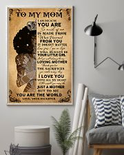 Black Girl To My Mom Because You Are The World 11x17 Poster lifestyle-poster-1