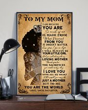 Black Girl To My Mom Because You Are The World 11x17 Poster lifestyle-poster-2