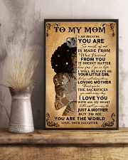 Black Girl To My Mom Because You Are The World 11x17 Poster lifestyle-poster-3