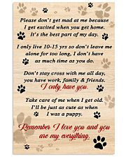 Dog Remember I Love You 11x17 Poster front
