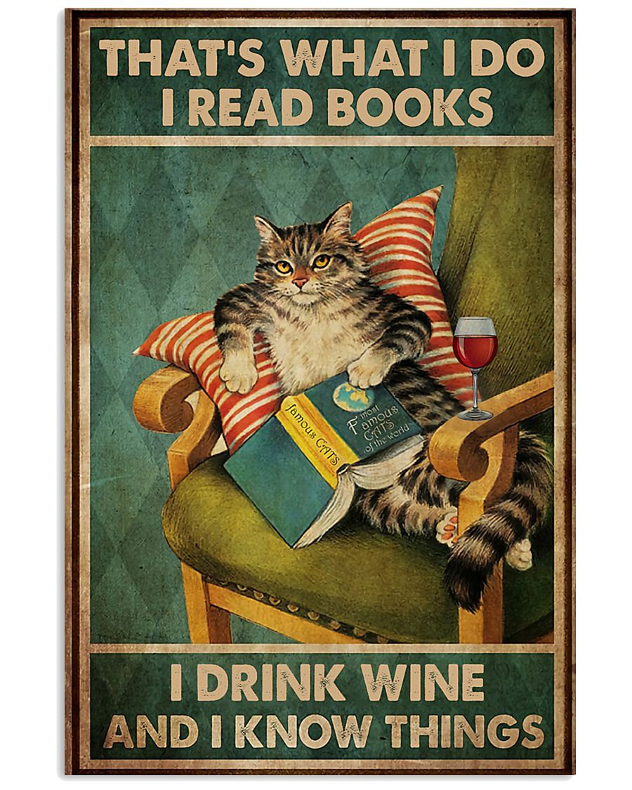 Cat I Drink Wine Poster 16x24 Poster