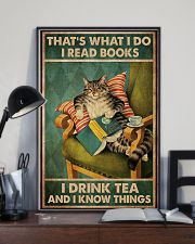 Cat That's What I Do I Read Books Poster 16x24 Poster lifestyle-poster-2