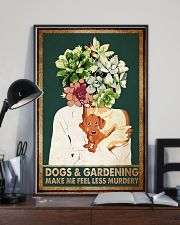 Garden Dogs Gardening Make Me Feel Less Murdery 11x17 Poster lifestyle-poster-2