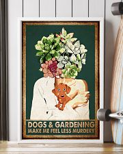 Garden Dogs Gardening Make Me Feel Less Murdery 11x17 Poster lifestyle-poster-4