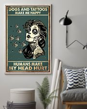Dogs and Tattoos Make Me Happy 11x17 Poster lifestyle-poster-1