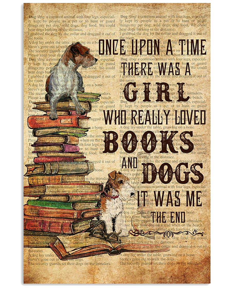 Books and Dogs Once Upon A Time 16x24 Poster