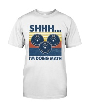 Gym Fitness I'm Doing Math Classic T-Shirt front