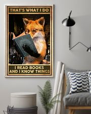 Books That's What I Do Fox 16x24 Poster lifestyle-poster-1