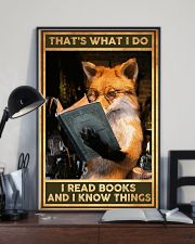 Books That's What I Do Fox 16x24 Poster lifestyle-poster-2