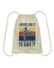 Dirt Bike Vintage 2 Drawstring Bag tile