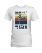 Dirt Bike Vintage 2 Ladies T-Shirt tile
