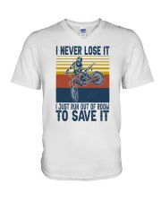 Dirt Bike Vintage 2 V-Neck T-Shirt tile