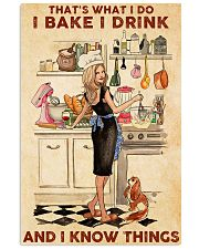 Baking That's What I Do I Bake I Drink Poster 11x17 Poster front