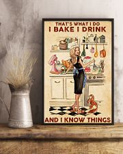 Baking That's What I Do I Bake I Drink Poster 11x17 Poster lifestyle-poster-3
