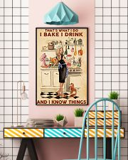 Baking That's What I Do I Bake I Drink Poster 11x17 Poster lifestyle-poster-6