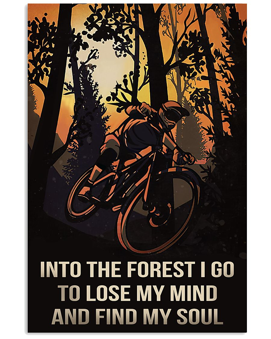 Cycling Into The Forest I Go 11x17 Poster