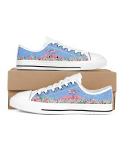 Flamingos Happy Together Beauty Women's Low Top White Shoes inside-left-outside-left