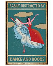 Book Easily Distracted By Dance and Books 16x24 Poster front