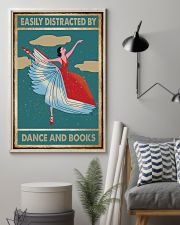 Book Easily Distracted By Dance and Books 16x24 Poster lifestyle-poster-1