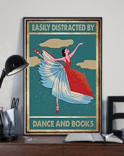 Book Easily Distracted By Dance and Books 16x24 Poster lifestyle-poster-2