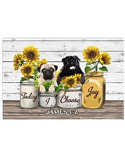 Pug Today I Choose Joy 17x11 Poster front