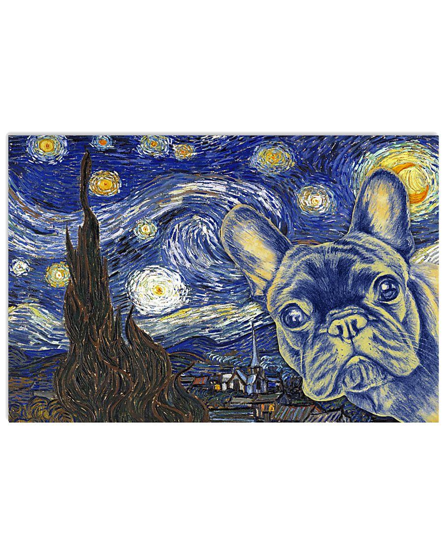 French Bulldog Vangogh 17x11 Poster