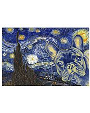 French Bulldog Vangogh 17x11 Poster front