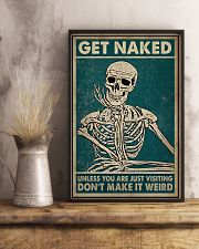 Skull You Are Just Visiting Poster 11x17 Poster lifestyle-poster-3