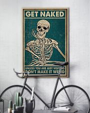 Skull You Are Just Visiting Poster 11x17 Poster lifestyle-poster-7