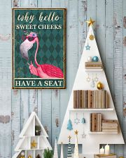 FLAMINGO WHY HELLO SWEET CHEEKS 11x17 Poster lifestyle-holiday-poster-2