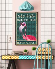 FLAMINGO WHY HELLO SWEET CHEEKS 11x17 Poster lifestyle-poster-6