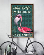 FLAMINGO WHY HELLO SWEET CHEEKS 11x17 Poster lifestyle-poster-7