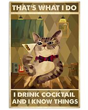 Cat That's What I Do Cocktail 16x24 Poster front