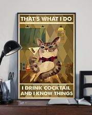 Cat That's What I Do Cocktail 16x24 Poster lifestyle-poster-2