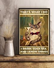Cat That's What I Do Cocktail 16x24 Poster lifestyle-poster-3