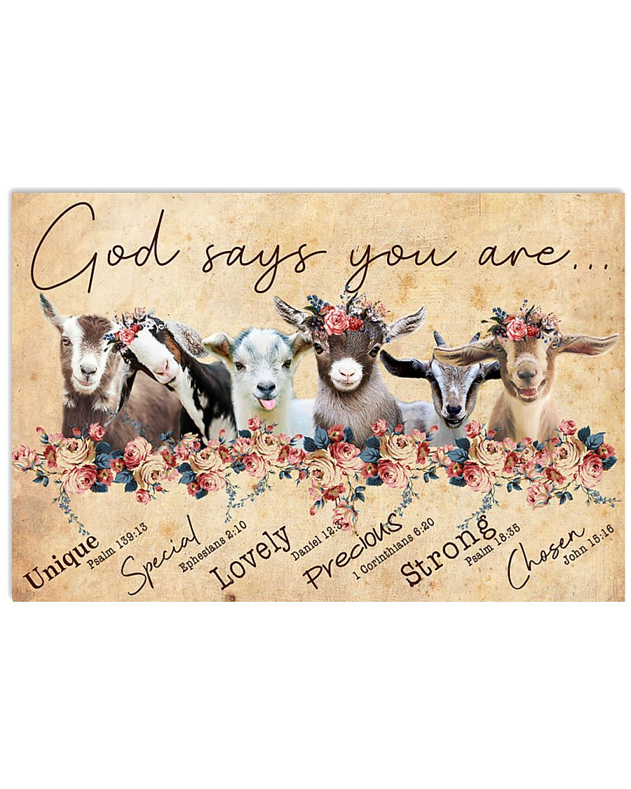 Goat God Says You Are 24x16 Poster