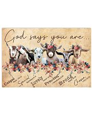 Goat God Says You Are 24x16 Poster front