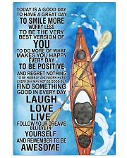 Kayaking Today Is Good Day Poster 11x17 Poster front